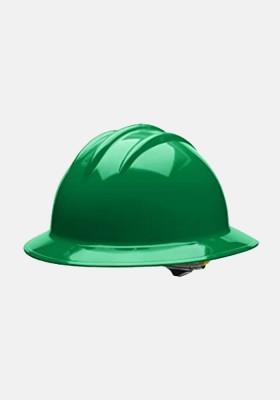 Bullard 4 Point Ratchet Suspension Full Brim Helmet Kelly Green