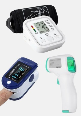 Bundle offer Blood Pressure Monitor - Oximeter - Thermometer