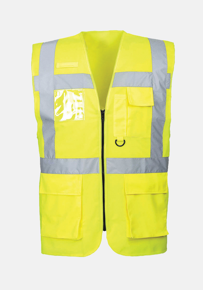 Safety Plus World High Visibility Technical Vest Yellow